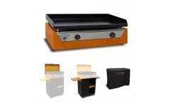 Pack RAINBOW Orange ELEC Plancha + Chariot + Couvercle
