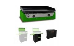 Pack RAINBOW Vert ELEC Plancha + Chariot + Couvercle