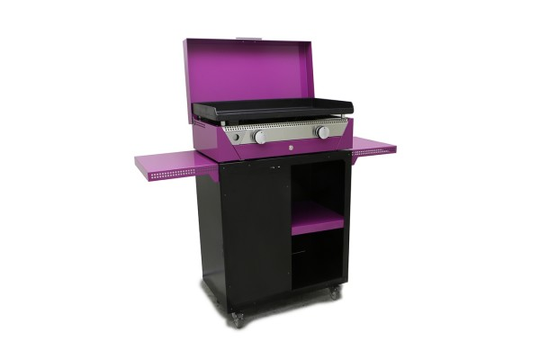 Plancha RAINBOW Violet With trolley and cover